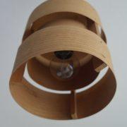 Holzlampe 60er 70er Vintage